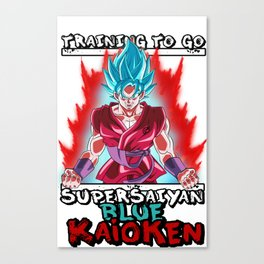 Training to go super saiyan blue kaioken - Goku Canvas Print