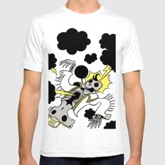 ElectricElvis White SMALL Mens Fitted Tee