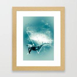 The Whale - Blu Framed Art Print