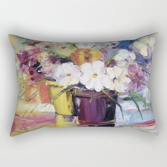 Flowers in a pot Rectangular Pillow