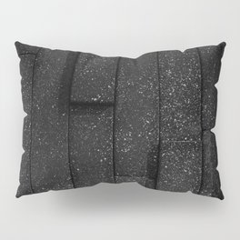white speckled contrasted bricks - black and white Pillow Sham