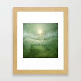 Greenery Sunrise Framed Art Print