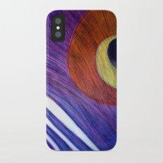 Peacock iPhone X Slim Case