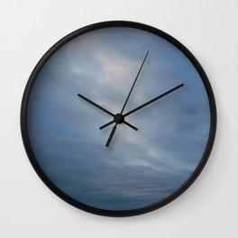 Blue Sky before Dawn Wall Clock
