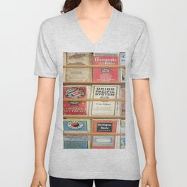 American Rail Brochures, Steamship Lines & More! Unisex V-Neck