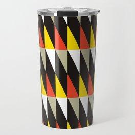 Geometric Pattern #187 (harlequin red yellow) Travel Mug