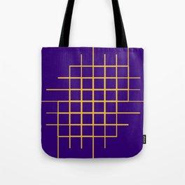 Blue & Gold Matrix Tote Bag