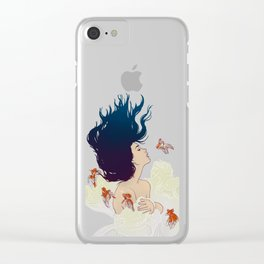 Underwater Lady Clear iPhone Case