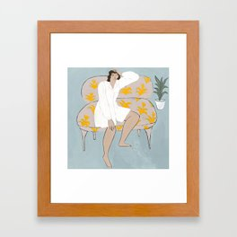 Wonderer on a Couch Framed Art Print