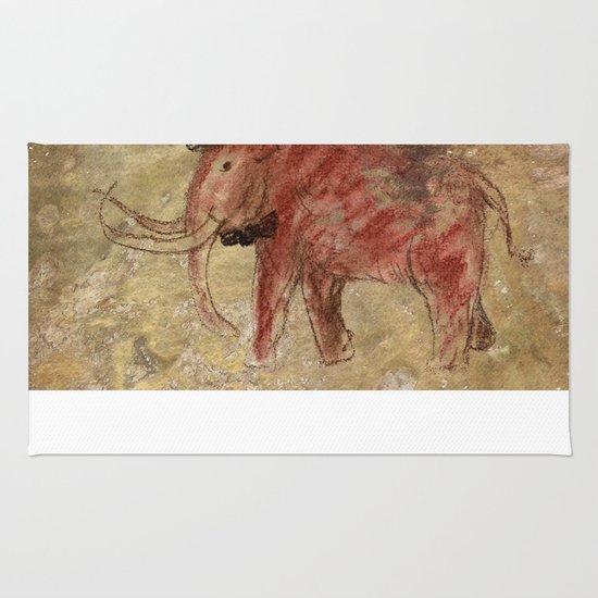 Cave art vintage mamut. Rug