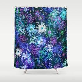 Eden Floral Blue Shower Curtain