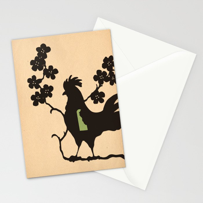 Delaware - State Papercut Print Stationery Cards