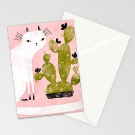 CAT & CACTUS Stationery Cards