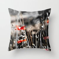 sin city Throw Pillows featuring Sin City by Irène Sneddon
