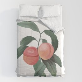 Peaches for days  Comforters