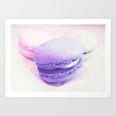 macaroons pink lavender Art Print
