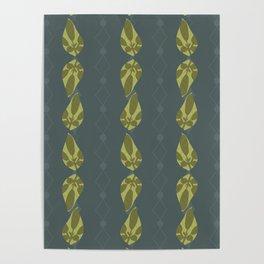 Leaf Shadow Stripe Poster