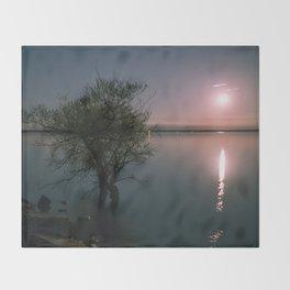Moonrise over Sandbanks Throw Blanket