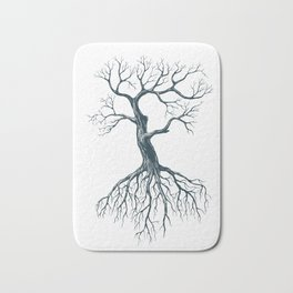 Tree without leaves Bath Mat