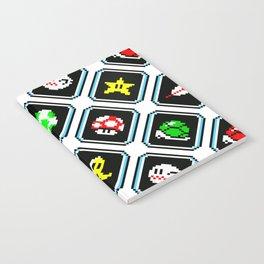 Super Mario Kart | items pattern | white Notebook