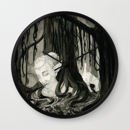 Lost in the Elfin Woods Wall Clock
