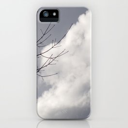 Beautiful Grey Sky With Single White Cloud Reflecting Sunlight iPhone Case