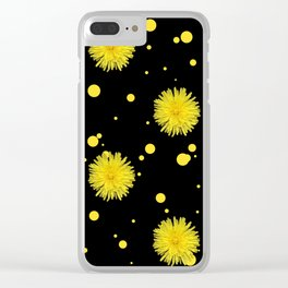 Yellow Dots and Dandelions Clear iPhone Case