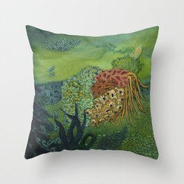 Deep Parts Throw Pillow