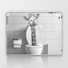 Giraffe in the Toilet Laptop & iPad Skin