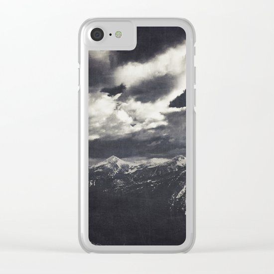 Cold Mountains Clear iPhone Case