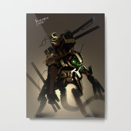Sand People riding a Exoskeleton Sand Destroyer Metal Print