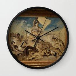 Eugne Delacroix - Esquisse pour La Liberte guidant le peuple Wall Clock