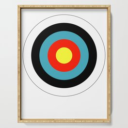 Bullseye Archery Target Shooter Rings Serving Tray