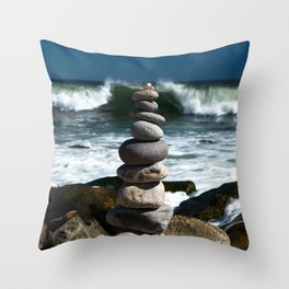 Parting the Waves Throw Pillow