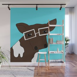 Matilda the Hipster Cow Wall Mural