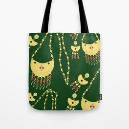 Traditional jewelery green Tote Bag