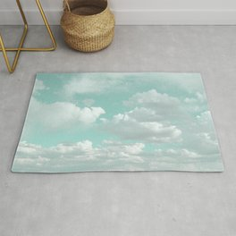 Clouds in a Mint Sky Rug