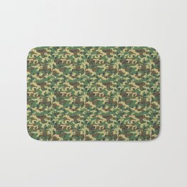 Military Camouflage Pattern - Brown Yellow Green Bath Mat