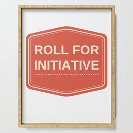 Roll for Initiative Serving Tray