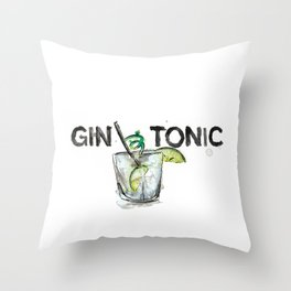 Favourite Things - Gin and Tonic Throw Pillow