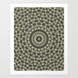 Abstraction, circular pattern Art Print