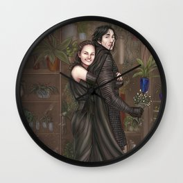 Among all the flowers Wall Clock