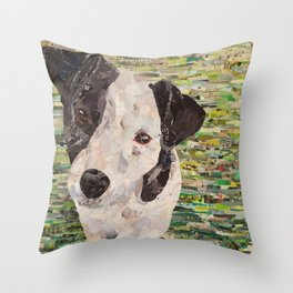 Lily on Green Background Throw Pillow