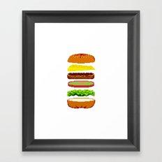 Cheeseburger Framed Art Print