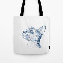 Cute chilling cat Tote Bag