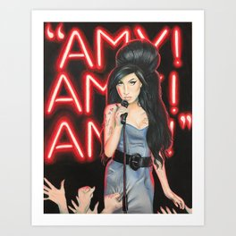 Amy Fame - colored pencil drawing Art Print