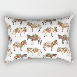 Nepal Donkeys Rectangular Pillow