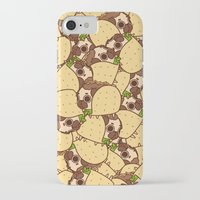 taco iPhone & iPod Cases featuring Puglie Taco by Puglie Pug
