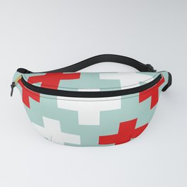 Red and White Crosses Fanny Pack