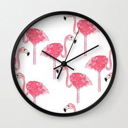 Flamingo Pattern Wall Clock